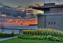 The Frank Lloyd Wright Boathouse / Capacity: 50 guests for a sit-down dinner, to 100 for a stand-up reception