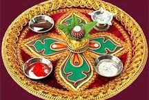 Indian Wedding Thali / Thalis - an important detail at many desi weddings  - can be easily decorated.