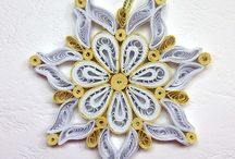 Quilling-snowflakes and Christmas