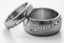 Rubir - wedding damascus steel rings