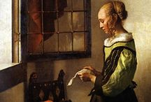 Johannes Vermeer / 36 known paintings by Johannes Vermeer, per:  http://www.essentialvermeer.com/vermeer_painting_part_one.html#.Vso0IZMrJhE