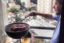 Comida Boa Muda Tudo A #bbq in progress Churrasco em apto pequeno. #comidaboamudatudo