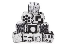 Black and white toys for babies