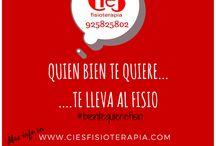 #BienTeQuiereFisio / Refranes de Fisio. Promoción curiosa de Cies Fisioterapia