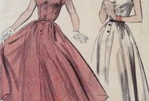 Vintage Dresses / Inspiration for Sewing vintage 1940s,1950s, 1960s dresses!