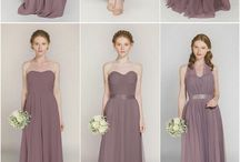 Mauve bridesmaid