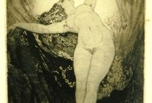 Norman Lindsay etching drawing