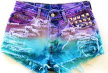 The dye shorts