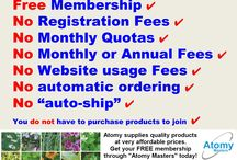 Atomy Membership / Atomy is free to join and there are no obligations to buy anything.