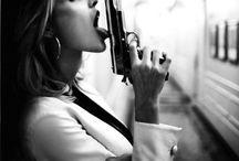 photography - ideas. with gun