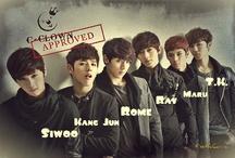 C-Clown / South Korean male idol band; formed: 2012; Yedang Entertainment; members: Rome, Siwoo, Ray, Kang Jun, T.K, Maru