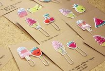 Planner Supplies / Accessories / Sticky notes, scrapbook paper, planner clips, planner charms, etc.