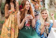 Bridal Shower Outfits / Outfits for bridesmaids and guests at a bridal shower.
