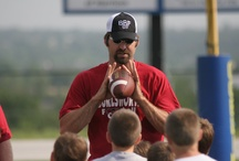 BB Football Camps / Each year the foundation holds football camps at Harrison and Little Rock, put on by former Arkansas Razorback football players.