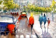 Cityscape / Watercolour