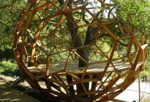 Tree house / Enhancing the beauty of an apple tree in my garden