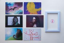 POSTCARDS / Pohlednice / obrázky do rámečku (ART by Lady Lu).