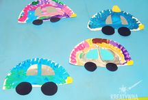 ruch drogowy, cars preschool craft