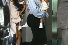 Kim & kourtney & their children