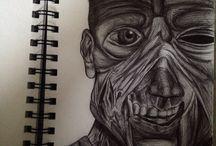 My art work. / I'm an art an design student.