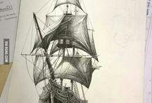 Navires pirates et fantomes