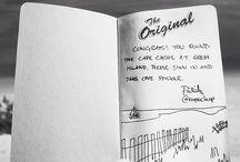 Geocaching Log Books / Examples of geocaching log books.
