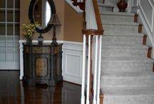 Wood floor staircase / Beautiful wood floor staircases.