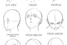Drawing of heads