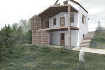 M NYARALÓ / Dunaegyházán meglévő, 3 szintes nyaraló belső közlekedőjének kialakítása, a terasz hozzáépítésével.