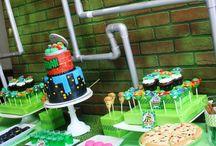 Ninja turtles/Angry birds party ideas