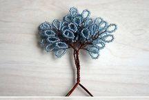 bead trees-wire trees