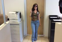 70's Day at Grappone!! / Our team members dressed up in their hip outfits and sunglasses today!