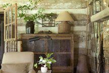 Intérieur cottage farmhouse et ancien