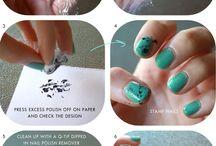 purple paper nails