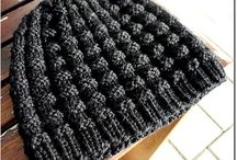 Crochet knitted hats