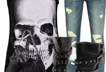 Steampunk and skull outfit -accessiores