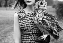 fashionshoot with owl