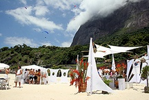 Zoom Oasis Beach Party / Billowing white linens, free-flowing caipirinhas, and scantily-clad Brazilian bartenders at our oasis party in the middle of beautiful Sao Corrado beach in Rio!