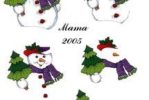 3d-sneeuwmannen