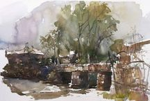 Chen Hong-Watercolours