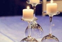 Wedding table centre pieces