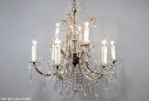 Kristallen Maria Theresia kroonluchters / Antieke kristallen Maria Theresia kroonluchters.
