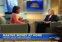 making money at home / here.s examples of people working at home talking about strategies and any tips that may help
