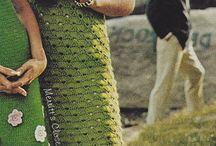 hačkované šaty
