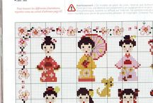 Cross stitch-geisha