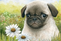 My Dog Paintings / Including my dog portraits and also my funny drawings and paintings of dogs.