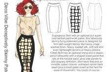 Inspiration: Deco Vibe Deceptively Skinny Patchwork Skirt / ...here's how we came up with the design for this skinny-fying skirt...
