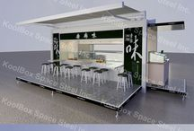 Container outdoor food kiosk