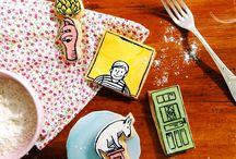 Biscoitos decorados / Cookies para comer com os olhos!
