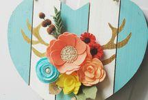 Felt and Paper Flower Art